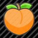 1f351, peach icon