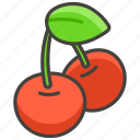1f352, cherries icon