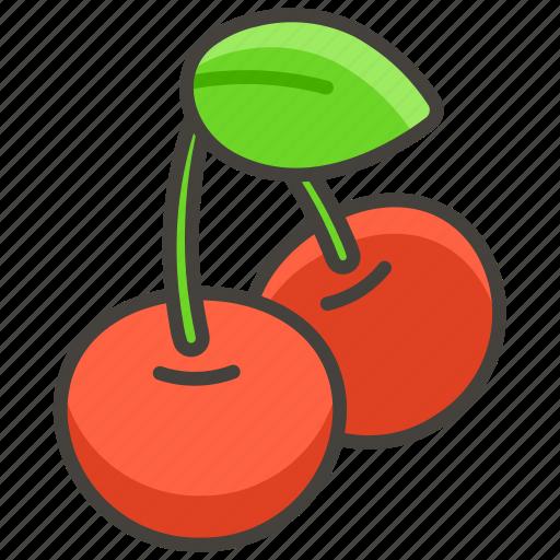 1f352, cherries icon