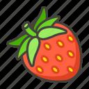 1f353, strawberry