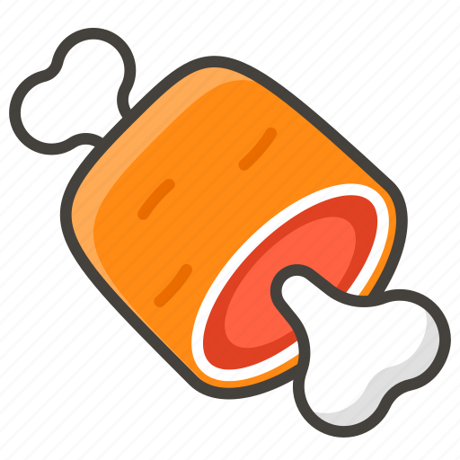 1f356, bone, meat, on icon