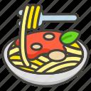 1f35d, spaghetti icon