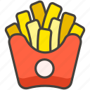 1f35f, b, french, fries icon