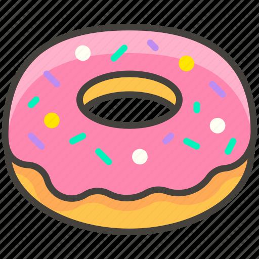 1f369, a, doughnut icon