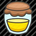 1f36f, honey, pot icon