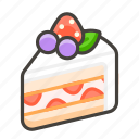 1f370, shortcake icon