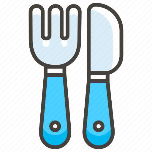 1f374, and, fork, knife icon