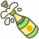 cork pop, popping bottles icon