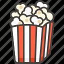 1f37f, popcorn icon