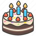 1f382, birthday, cake icon