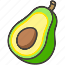 1f951, avocado icon