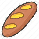 1f956, baguette, bread icon