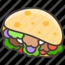 flatbread, stuffed