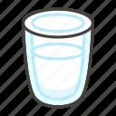 1f95b, glass, milk, of icon