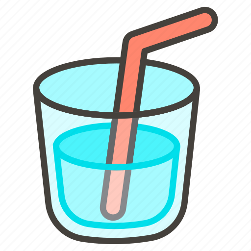 1f964, cup, straw, with icon - Download on Iconfinder