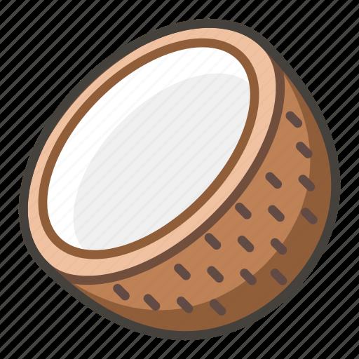 1f965, coconut icon