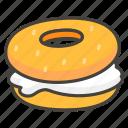 1f96f, bagel icon