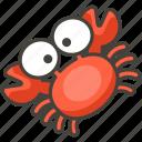 1f980, crab icon