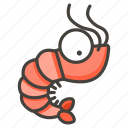 1f990, shrimp icon
