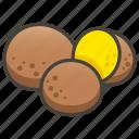 1f9c6, a, falafel icon