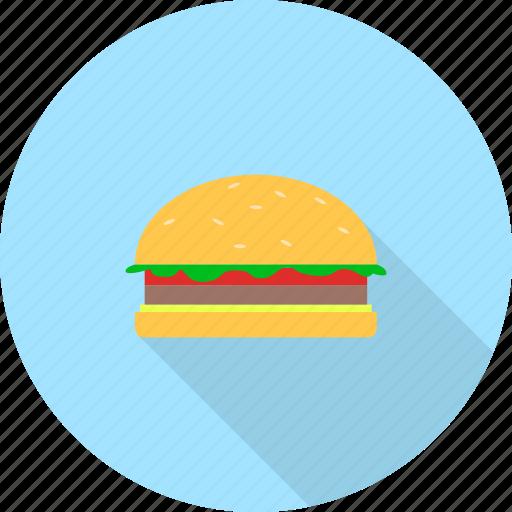 fast, food, hamburger, junk icon