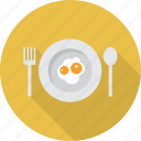 breakfast, easter, egg, food, fried icon