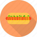 fast, food, hotdog, sausage icon