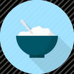 cup, food, kitchen, porridge, rice icon