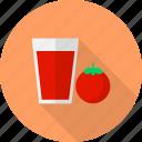 drink, fruit, glass, juice, tomato icon