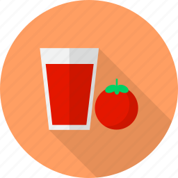 drink, fruit, glass, juice, tomato icon