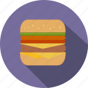 burger, fastfood, hamburger, meal icon