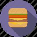 hamburger, burger, fastfood, meal