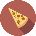italian, junk, meal, pizza icon