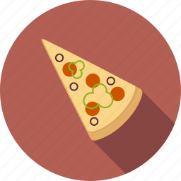 fast, food, italian, junk, meal, pizza, slice icon
