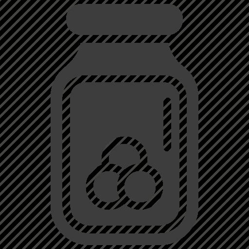Bottle, food bottle, food container, jam jar, jar icon - Download on Iconfinder