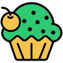brownie, cake, cupcake, dessert, party icon