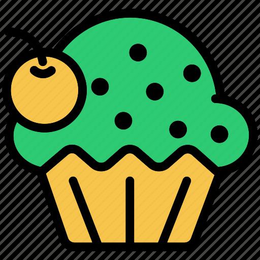 brownie, cake, cupcake, dessert, party icon