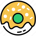 dessert, donut, food, snack, sweet icon