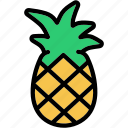 ananas, food, fruit, pineapple, sweet icon