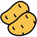 food, healthy, organic, potato, vegetable icon