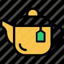 breakfast, hot, kettle, pot, tea icon