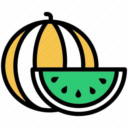 food, fresh, fruit, slice, watermelon icon