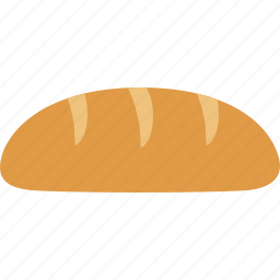 baguette, bakery, baking, bread, food, loaf, roll icon