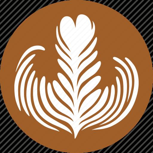 art, caffe, coffee, design, espresso, latte, rosette icon