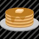 butter, food, hotcake, pancakes, griddlecake, breakfast, syrup