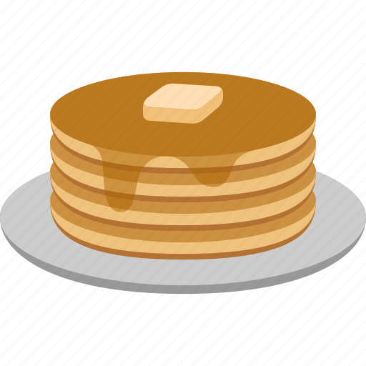 breakfast, butter, food, griddlecake, hotcake, pancakes, syrup icon