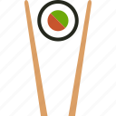 chopstick, chopsticks, food, japanese, makizushi, roll, sushi icon