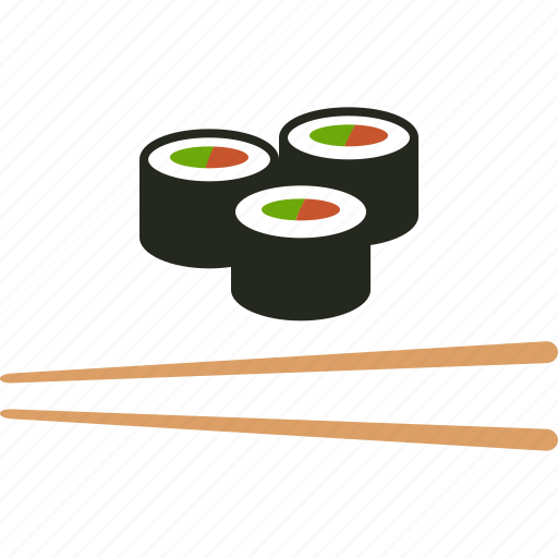 chopstick, chopsticks, food, japanese, maki, makizushi, sushi icon
