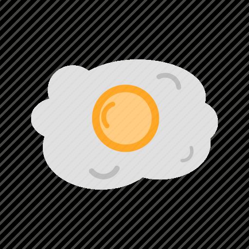 breakfast, cook, eat, egg white, egg yolk, fried egg, fry icon