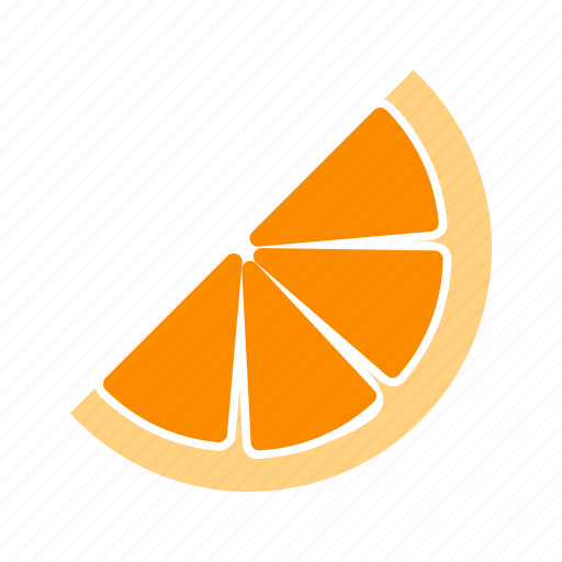 food, fruits, healthy, juicy, orange, sliced, tropical icon